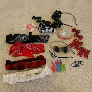 Goth/Lolita Hair Accessory Lot (31 Pieces)